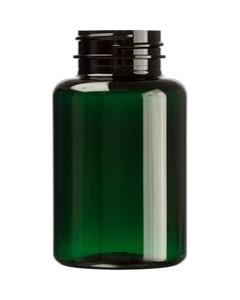 6 oz. (175 cc) Dark Green PET Plastic Packer Bottle, 38mm 38-400