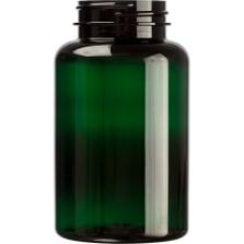 8 oz. (250 cc) Dark Green PET Plastic Packer Bottle, 45mm 45-400