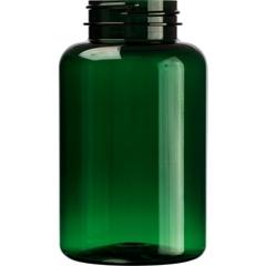 10 oz. (300 cc) Dark Green PET Plastic Packer Bottle, 45mm 45-400