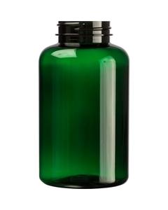 13.5 oz. (400 cc) Dark Green PET Plastic Packer Bottle, 45mm 45-400