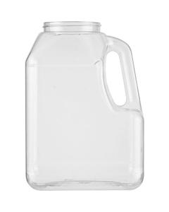 128 oz. Clear PETG Plastic Premier Oblong Jar with Handle, 89mm 89-400