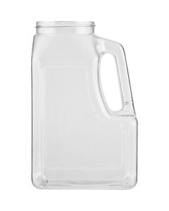 32 oz. Clear PETG Plastic Premier Oblong Jar with Handle, 63mm 63-400