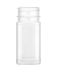 4 oz. Natural PP Plastic Square Spice Jar, 43mm 43-485