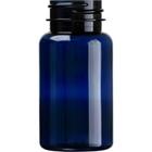 2.5 oz. (75 cc) Cobalt Blue PET Plastic Packer Bottle, 33mm 33-400