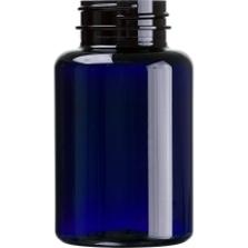 6 oz. (175 cc) Cobalt Blue PET Plastic Packer Bottle, 38mm 38-400