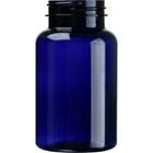 7.5 oz. (225 cc) Cobalt Blue PET Plastic Packer Bottle, 45mm 45-400