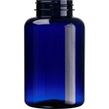 10 oz. (300 cc) Cobalt Blue PET Plastic Packer Bottle, 45mm 45-400