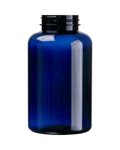 13.5 oz. (400 cc) Cobalt Blue PET Plastic Packer Bottle, 45mm 45-400
