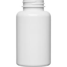 6.75 oz. (200 cc) White PET Plastic Packer Bottle, 38mm 38-400
