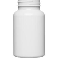 7.5 oz. (225 cc) White PET Plastic Packer Bottle, 45mm 45-400