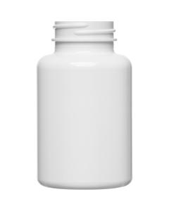 6 oz. (175 cc) White PET Plastic Packer Bottle, 38mm 38-400