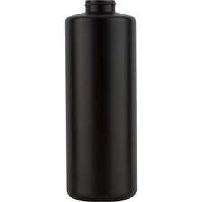 32 oz. Black HDPE Cylinder Bottle, 38mm 38-400