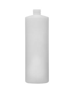 Fluorinated 32 oz. Natural Cylinder HDPE Bottle, 28mm 28-410