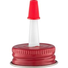 """1"""" Delta Red Metal Spout Cap with 1"""" Reversible Plastic Spout"""
