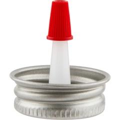"""1"""" Delta Metal Spout Cap with 1"""" Reversible Plastic Spout"""