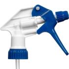 """Blue/White Shipper Trigger Sprayer, 9-1/2"""" Dip Tube, 28mm 28-400"""