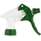 """White/Green Heavy-Duty Trigger Sprayer, 9-1/4"""" Dip Tube, 28mm 28-400"""