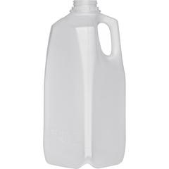 1/2 Gallon (64 oz.) Natural HDPE Plastic Dairy Milk Jug, 38mm 38-400