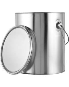 1 Gallon Metal Paint Can w/Ears, Bail and Lid, Unlined, 389 Grams