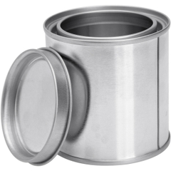 1/2 Pint Metal Paint Can with Lid, Unlined, 100x1 Reshipper Box (100/cs)