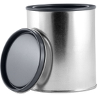 1 Pint Metal Paint Can with Lid, Gray Epoxy Phenolic Lined