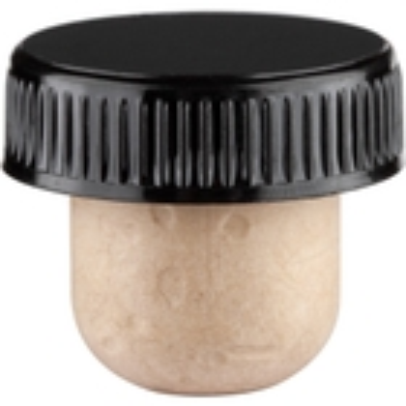 Synthetic Bar Top Cork, 33 x 22.5 mm Shank