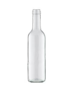 375 ml Clear Bordeaux Wine Bottles, Mini Punt, Cork, 24/cs