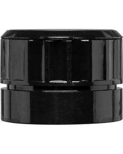 43mm 43-485 Black Inline Adjustable Spice Grinder Cap w/Tab, Pressure Sensitive Liner, 600/Box