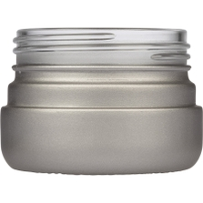 2 oz. Silver Straight Sided Glass Jar, Thick Wall, 53mm 53-400