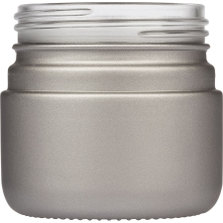 3 oz. Silver Straight Sided Glass Jar, Thick Wall, 53mm 53-400