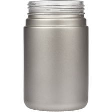 6 oz. Silver Straight Sided Glass Jar, Thick Wall, 53mm 53-400
