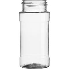 4 oz. Clear PET Plastic Spice Jar, 43mm 43-485, 15.5 Grams