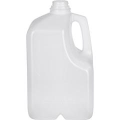 1 Gallon (128 oz.) Natural HDPE Plastic Space Saver Dairy Milk Jug, 38mm 38-400
