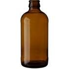 12 oz. (355 ml) Amber Glass Stubby Beer Bottles, Crown Pry-Off, 26-611, 24/cs