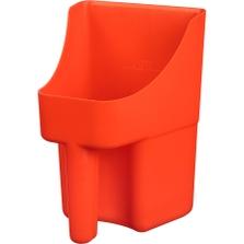 3 Quart Orange Plastic Scoop