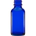 1 oz. Cobalt Blue Boston Round Glass Bottle, 20 mm 20-400