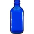 2 oz. Cobalt Blue Boston Round Glass Bottle, 20mm 20-400