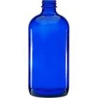 16 oz. Cobalt Blue Boston Round Glass Bottle, 28mm 28-400