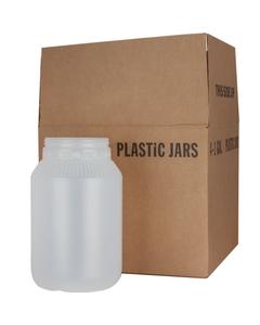 1 Gallon Natural HDPE Plastic Wide Mouth Jar, 110mm 110-400, 4x1 Reshipper Box