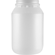 1 Gallon Natural HDPE Plastic Wide Mouth Jar, 110mm 110-400, 132 Grams
