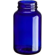 6.75 oz. (200 cc) Cobalt Blue Glass Packer Bottle, 45mm 45-400