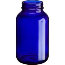 8 oz. (250 cc) Cobalt Blue Glass Packer Bottle, 45mm 45-400