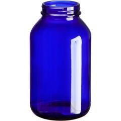 17 oz. (500 cc) Cobalt Blue Glass Packer Bottle, 53mm 53-400