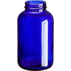 21 oz. (625 cc) Cobalt Blue Glass Packer Bottle, 53mm 53-400