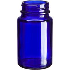 2.5 oz. (75 cc) Cobalt Blue Glass Packer Bottle, 38mm 38-400