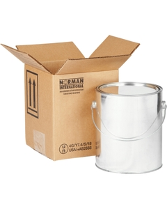 1 x 1 Gallon Paint Can Hazmat UN 4G Shipping Box, 275#