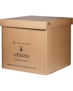 "36"" x 36"" x 36"" Bulk-Size Corrugated HazMat Gaylord Container"