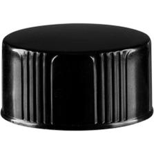 18mm 18-400 Black Phenolic Cap w/Poly Cone Insert (Taperseal)