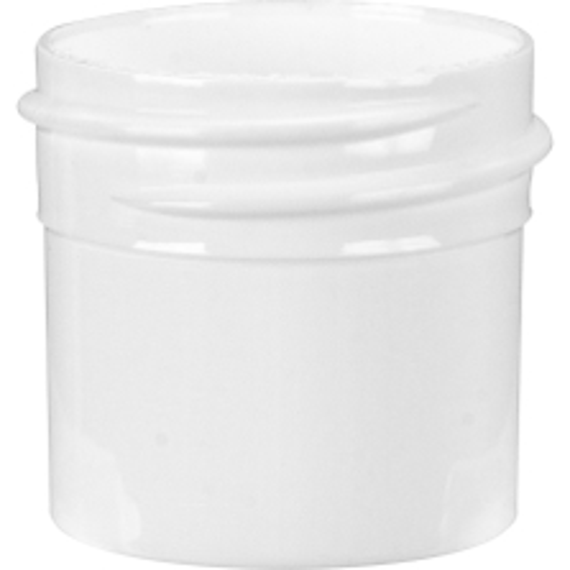 1/4 oz. White Plastic Jar, Straight Sided, 33mm 33-400