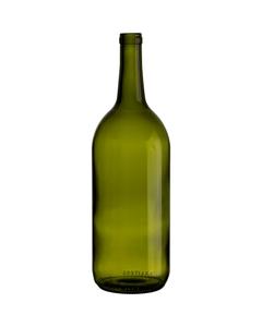 1.5 L Champagne Green Bordeaux Wine Bottles, Cork
